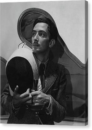 Salvador Dali Holding Fencing Equipment Canvas Print by Cecil Beaton