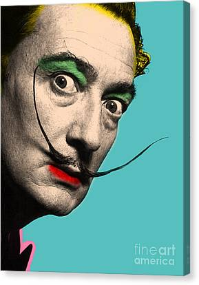 Salvador Dali Canvas Print by Mark Ashkenazi