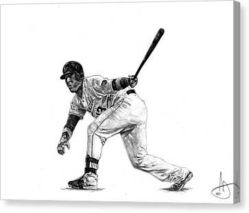 Salvador Perez Canvas Print by Joshua Sooter