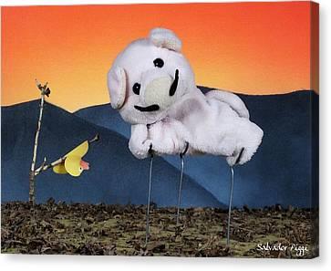 Salvador Piggi Canvas Print by Piggy