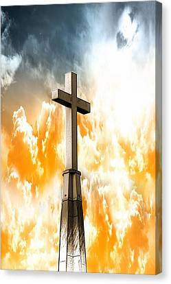 Canvas Print featuring the photograph Salvation From Heaven by Aaron Berg