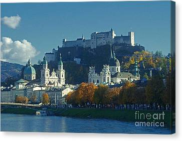 Salzburg Austria In Fall Canvas Print by Rudi Prott
