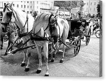 Salzburg Holiday Workers Canvas Print