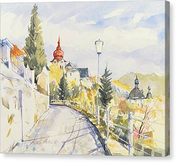 Salzburg Nonntal  Canvas Print by Clive Metcalfe