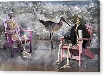 Sam And Friend In Wonderland Canvas Print by Betsy Knapp