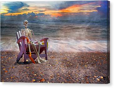 Sam And His Favorite Adirondack Canvas Print by Betsy Knapp