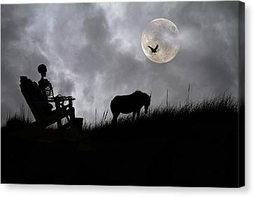 Sam And The Night Watch Canvas Print by Betsy Knapp