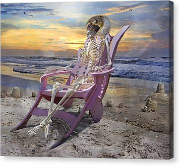 Bones Canvas Print - Sam Becomes Animalistic by Betsy Knapp