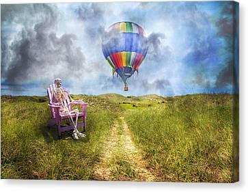 Sam Contemplates Ballooning Canvas Print by Betsy Knapp