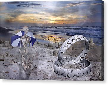 Sam Meditates With Time Two Of Two Canvas Print by Betsy Knapp