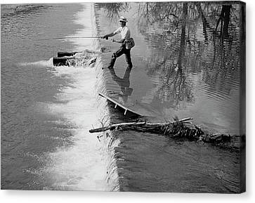 Sam Snead Trout Fishing Canvas Print by Constantin Joffe