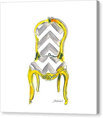 Chairs Canvas Print - Samantha Chevron Chair by Roleen  Senic