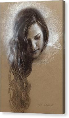 Samantha Sketch Canvas Print by Karen Whitworth