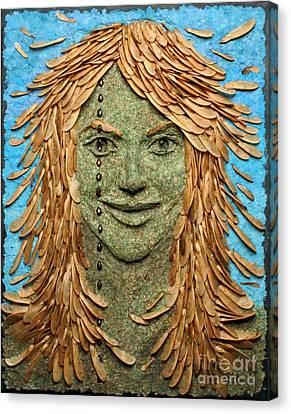 Samara A Wall Hanging Relief Sculpture By Adam Long Canvas Print