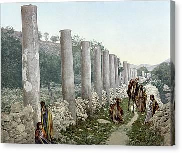 Samaria Colonnade Canvas Print