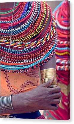 Samburu Tribal Beadwork Canvas Print by Panoramic Images