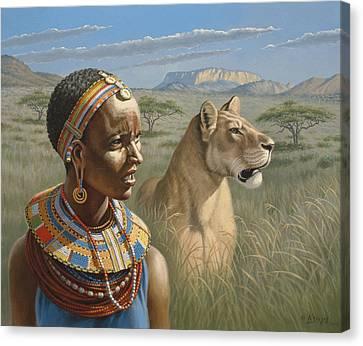 Samburu Watchers   Canvas Print