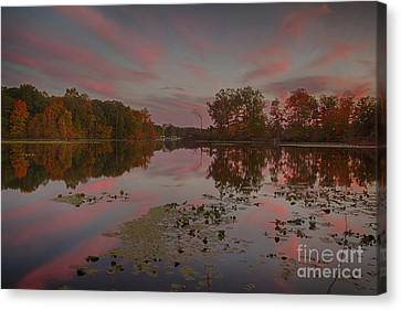 Same Time Same Place Different View Canvas Print by Michael J Samuels