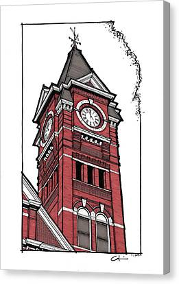Samford Hall Clock Tower Canvas Print