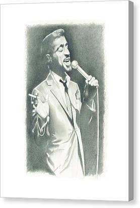 Sammy Davis Jr Canvas Print by Gordon Van Dusen