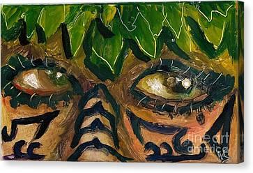Canvas Print - Samoan Eyes by Donna Chaasadah