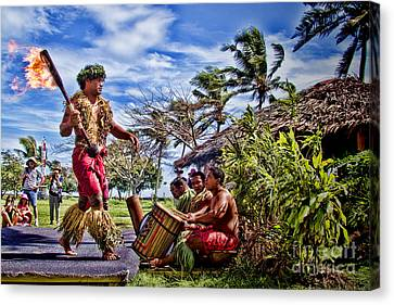 Samoan Torch Bearer Canvas Print by David Smith