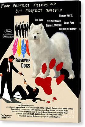 Samoyed Art Canvas Print - Reservoir Dogs Movie Poster Canvas Print by Sandra Sij