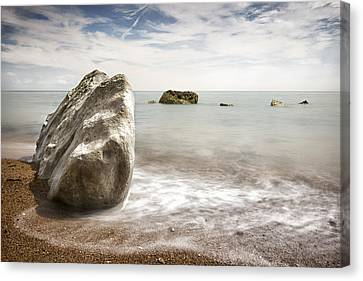 Samphire Seascape Canvas Print by Ian Hufton