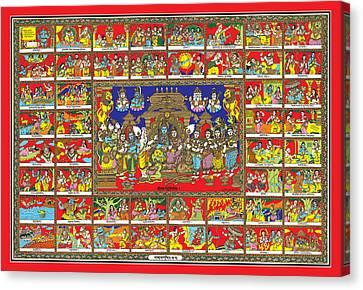 Sampoorna Ramayana Canvas Print