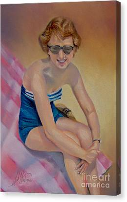 Sam's Pin-up Canvas Print by Leah Wiedemer