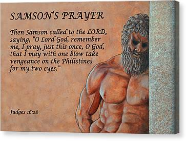 Samson's Prayer Canvas Print