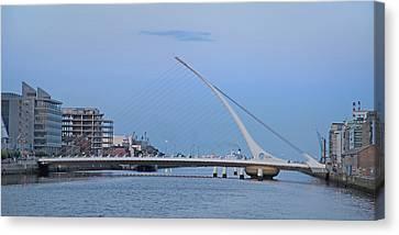 Samuel Beckett Bridge Dublin Ireland Canvas Print by Betsy Knapp