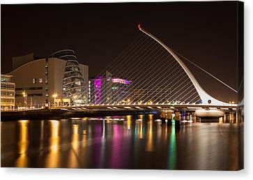 Samuel Beckett Bridge In Dublin City Canvas Print by Semmick Photo