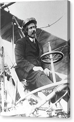 Franklin Canvas Print - Samuel Franklin Cody In His Biplane by Universal History Archive/uig