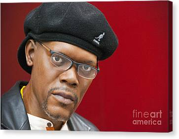 Samuel L. Jackson Canvas Print by Juli Scalzi
