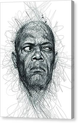 Samuel L Jackson  Canvas Print by Vince Low