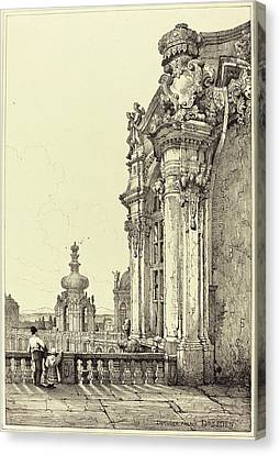 Samuel Prout British, 1783 - 1852, Zwinger Palace Canvas Print by Quint Lox