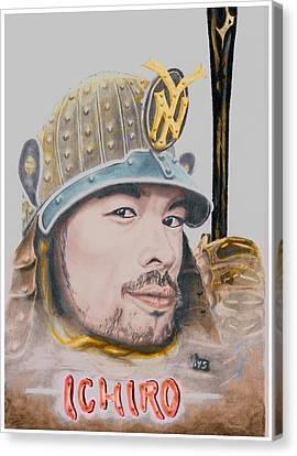 Samurai Ichiro Canvas Print by Bas Van Sloten