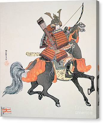 Armor Canvas Print - Samurai by Japanese School