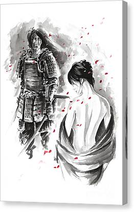 Samurai. Canvas Print by Mariusz Szmerdt