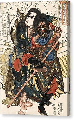Samurai Mugging C. 1826 Canvas Print by Daniel Hagerman