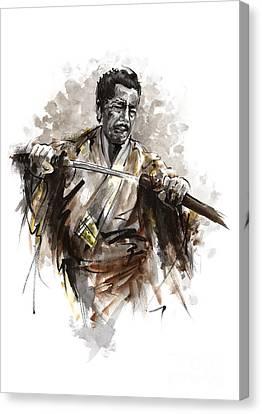 Samurai Warrior. Canvas Print by Mariusz Szmerdt