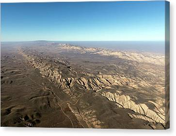 San Andreas Fault Canvas Print by The Jon B. Lovelace Collection Of California Photographs In Carol M. Highsmith's America Project, Library Of Congress