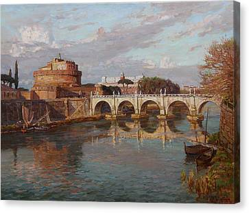 San-angelo Castle Canvas Print by Korobkin Anatoly