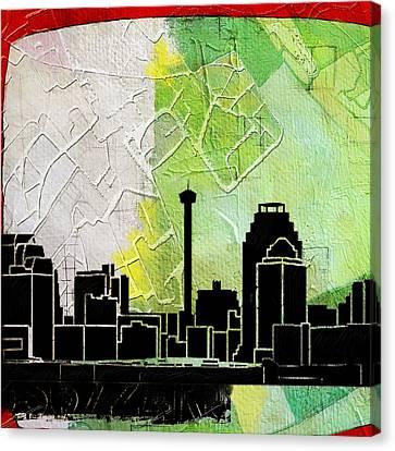 San Antonio 002 B Canvas Print by Corporate Art Task Force