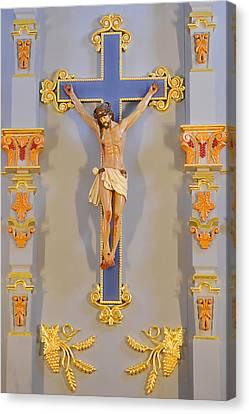 San Antonio - Crucifix Mission San Jose Canvas Print by Christine Till