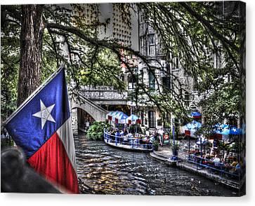 San Antonio Flag Canvas Print by Deborah Klubertanz