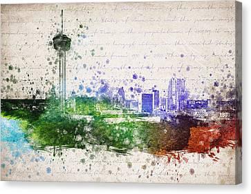San Antonio In Color Canvas Print