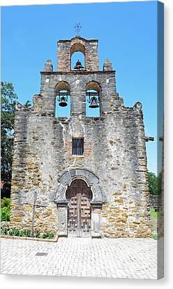 San Antonio Missions National Historical Park Mission Espada Facade Exterior Canvas Print by Shawn O'Brien