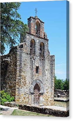 San Antonio Missions National Historical Park Mission Espada Left Exterior Canvas Print